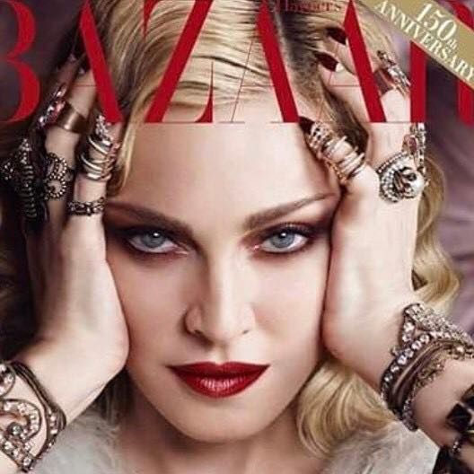 Madonna cover Bazaar 150 anniversary