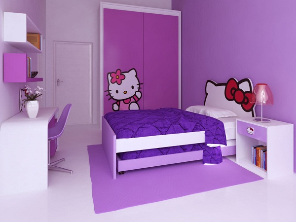Phòng ngủ màu tím 07