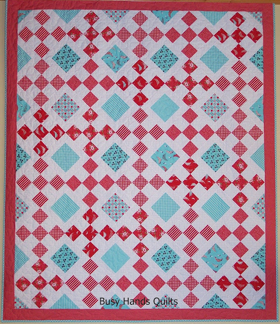 Granny's Square Patch Quilt Pattern by Myra Barnes