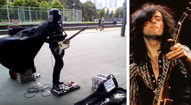 Darth Vader captado tocando clásico Led Zeppelin