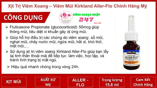 Thuốc trị viêm xoang Kirkland Aller-Flo