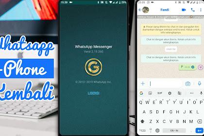 Whatsapp MOD Versi GOLD | YoWhatsapp Terbaru