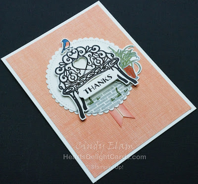 Heart's Delight Cards, MIFDC5, Sitting Pretty, Thank you, Bluebird, Stampin' Up!