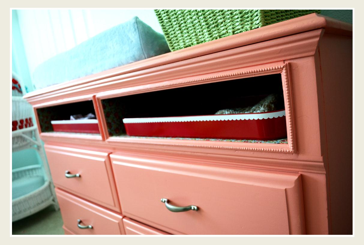 The Monday Blog Dresser Makeover A Coral Beauty