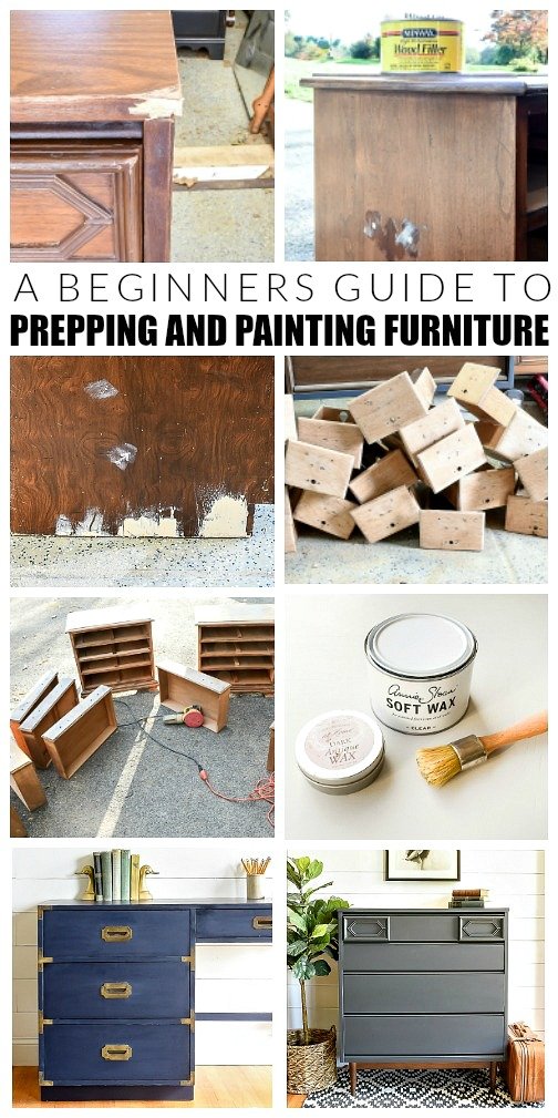 Beginners guide to prepping, painting and repairing furniture