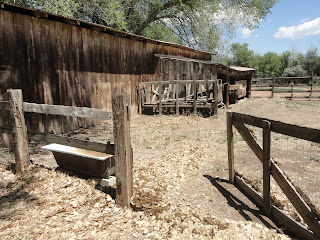 old barn, corral and bathtub for a trough, northern New Mexico