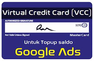 Jual VCC Google Ads (Adwords) Murah Untuk Topup Saldo Iklan di Google