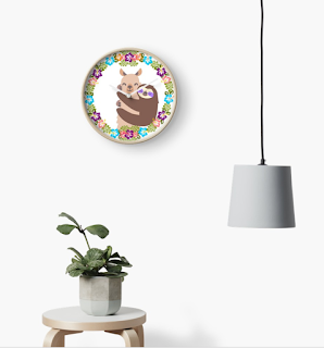 llama and sloth tropical clock on redbubble