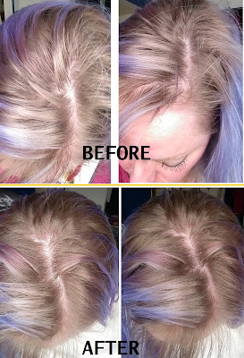 before after pics AG Sterling Silver violet toning purple shampoo platinum blonde hair highlights