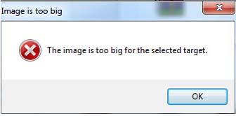 contoh kesalahan ekstrak file di rufus