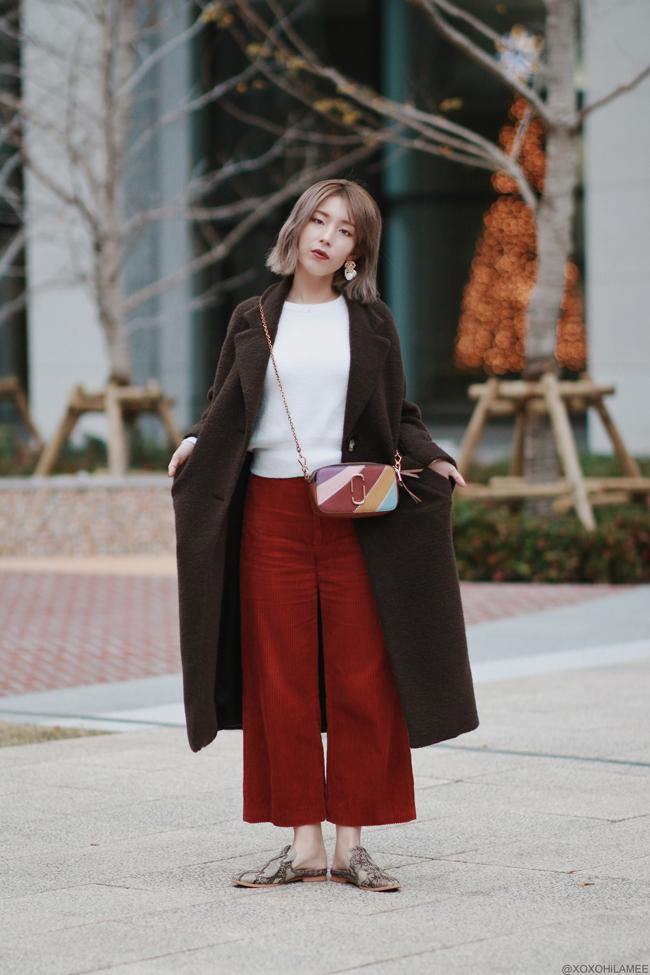 Japanese Fashion Blogger,MizuhoK,OOTD,20191221, ZARA= coat, knit top, pants,earrings ZAFUL=bag, GU= mules