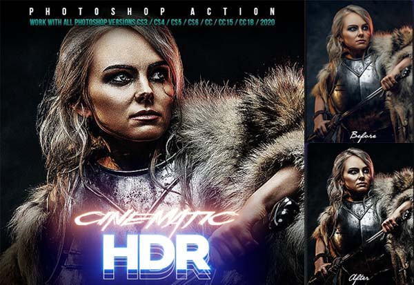 HDR Cinematic Photoshop Actions