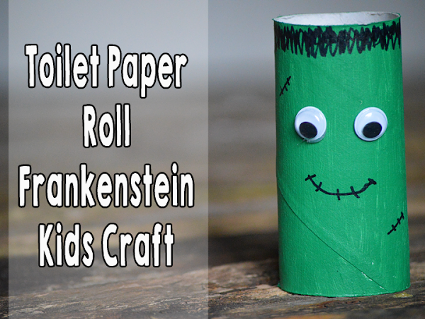 Toilet Paper Roll Frankenstein {A Monstrously Fun Halloween Kids Craft}