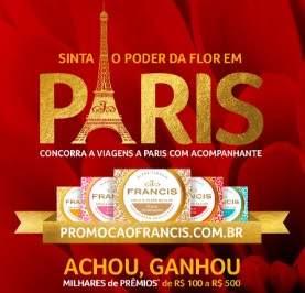 Cadastrar Promoção Francis 2019 Achou Ganhou Vale Prêmios - Concorra Viagens Paris