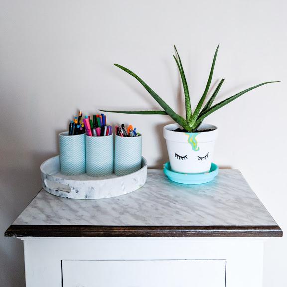 DIY: Pot en terre cuite style Licorne.
