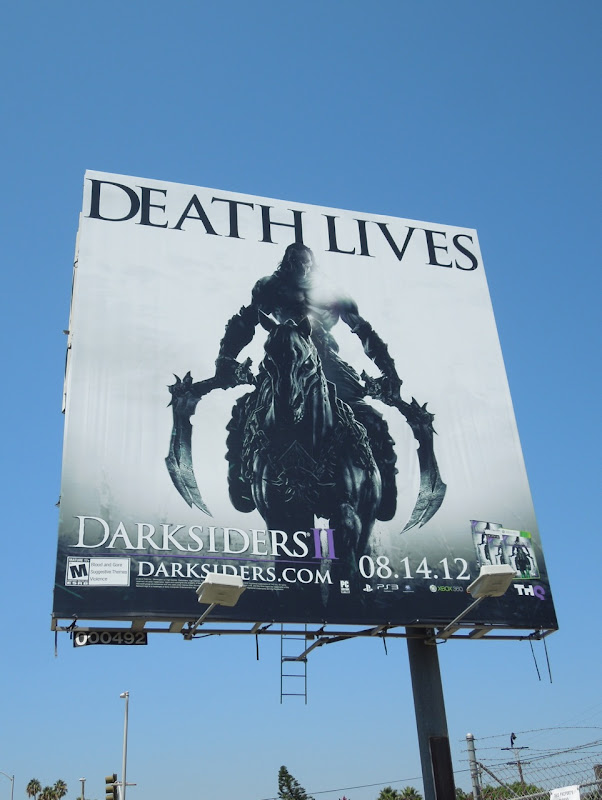 Darksiders II Death Lives billboard