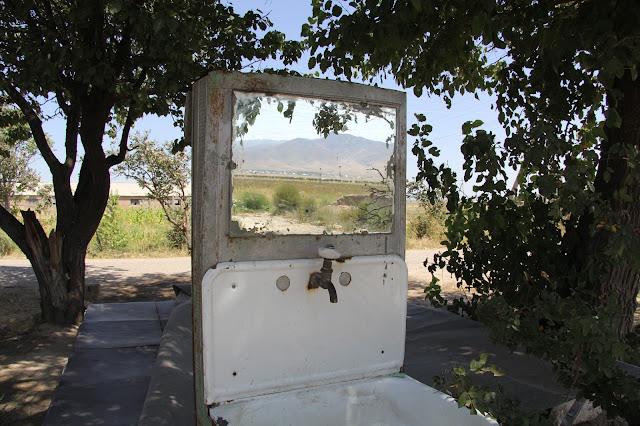 Ouzbékistan, Sazagan, Saad, lavabo, © L. Gigout, 2012