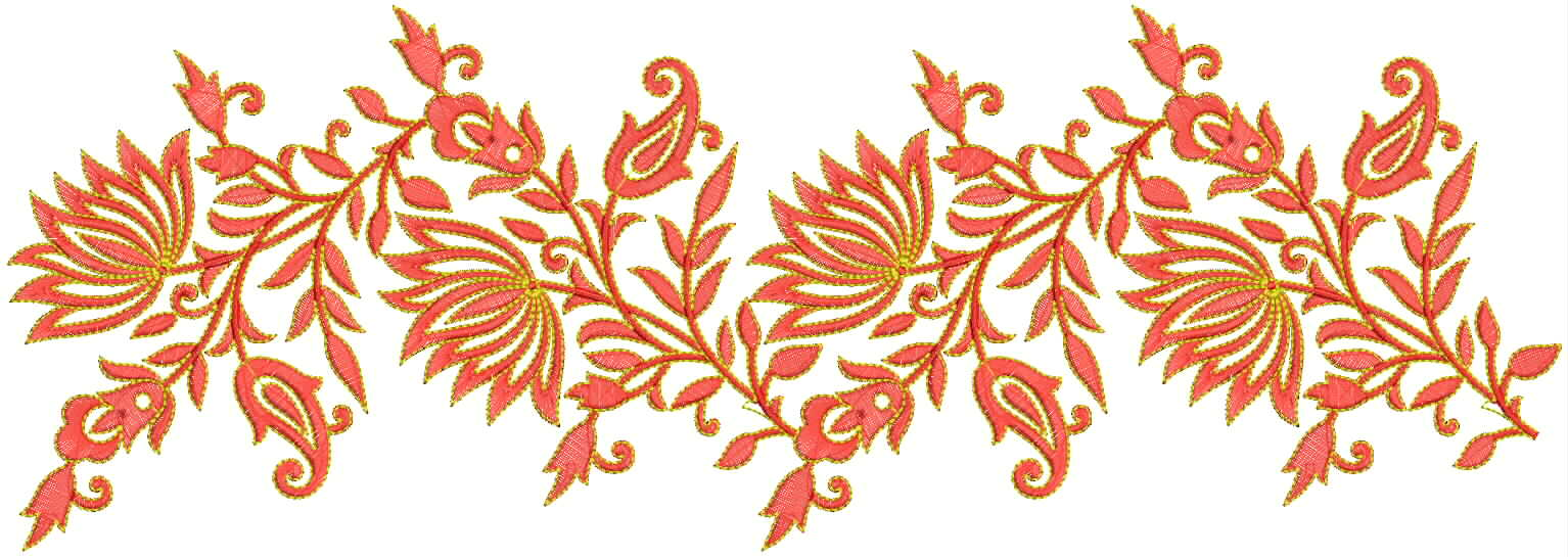 Embdesigntube Lining Lace Border Embroidery Designs