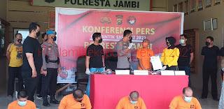 Ops Antik Ditinjau 2021 Polresta Jambi Berhasil Gulung 32 Orang Tersangka Narkoba Dan DPO BNNP.
