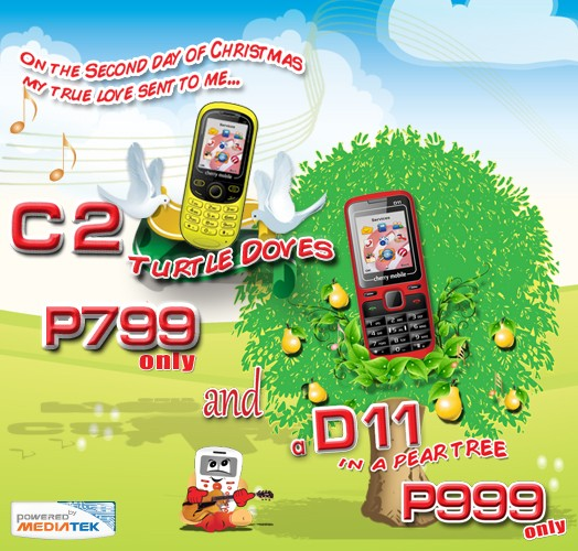 Cherry Mobile offers Dual Sim-Phones C2 and D11 for Christmas