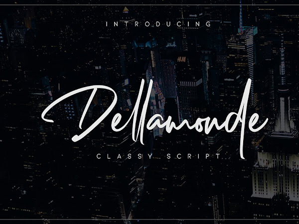 Dellamonde Handwritten Font Free Download