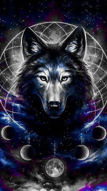 Mystic Wolf Moon Tumblr Wallpaper