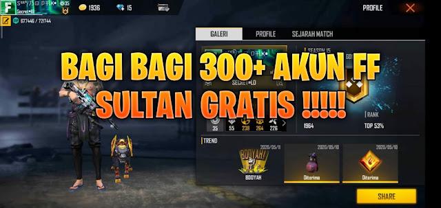 Bagi bagi akun ff sultan gratis