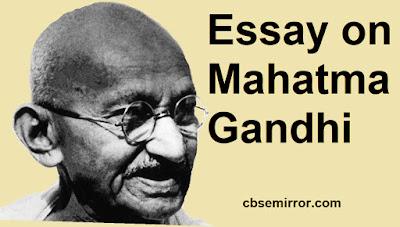 Essay on Mahatma Gandhi in English