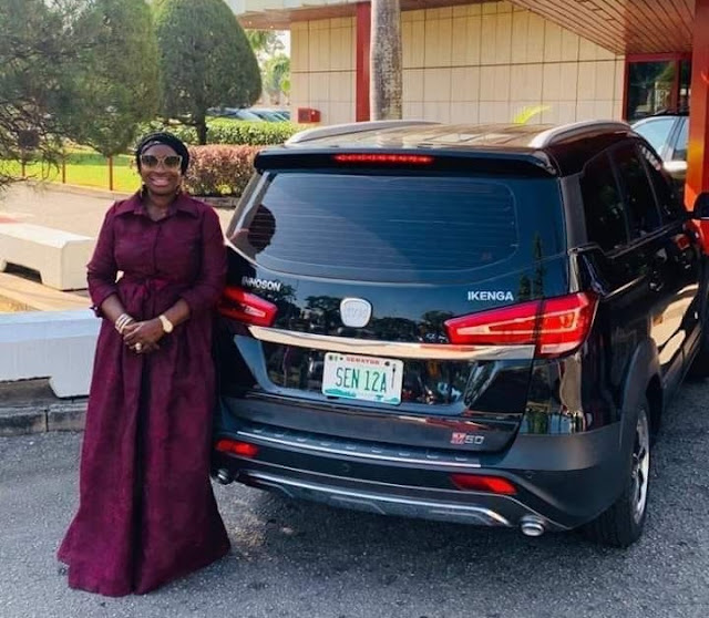 Senator Ekwunife Poses With Her New Innoson Ikenga. Lists Achievements In 5 Months