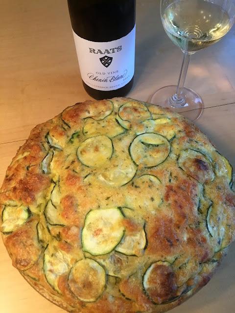 chenin blanc pairing with zucchini quiche and Raats chenin blanc