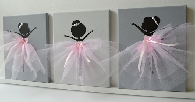 Itens de decoração inspirados em bailarinas