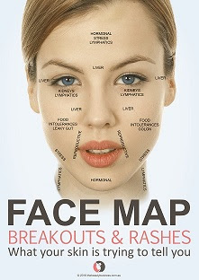 Face map poster by by jana elston for the beauty business
