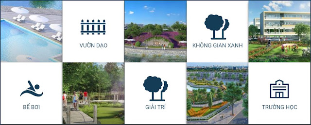 Không gian cây xanh tại dự án Tasco Xuân Phương