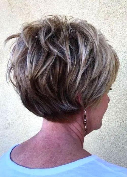 Basic Choppy Cut for Women Over 60