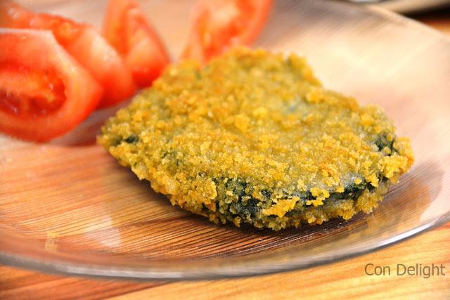 vegan spinach schnitzel שניצל תרד טבעוני