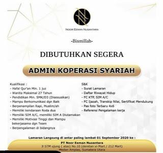 Admin Koperasi Syariah di PT Noor Eeman Nusantara