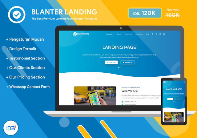 Blanter Landing, Template Landing Page Terbaik untuk Bisnis