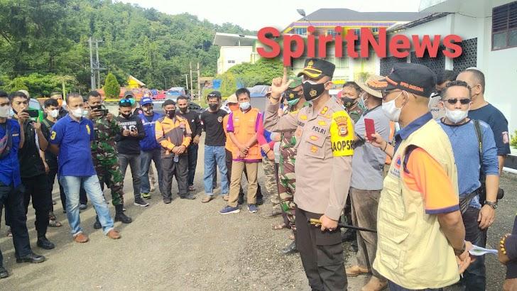 Kapolres Enrekang, Ikut Dalam Rombongan Pembawa Bantuan Gempa Di Sulbar