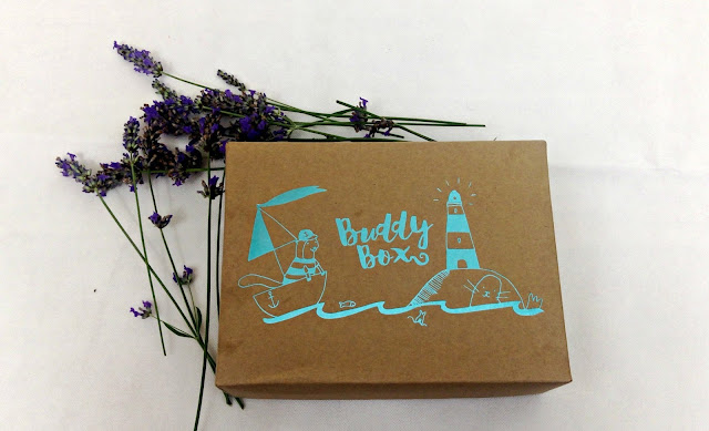 June Buddy Box Package with Seafaring Design