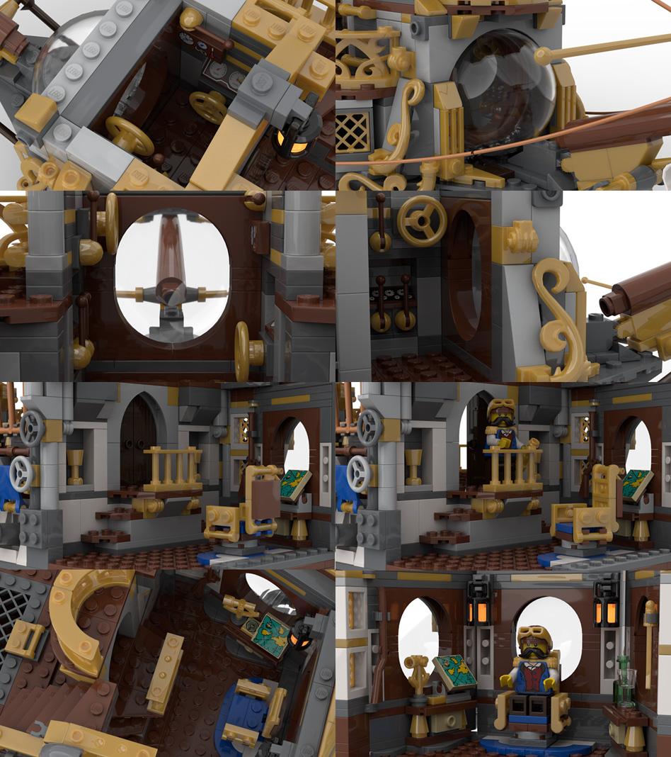 レゴアイデアで『スチームパンクの空飛ぶ船』が製品化レビュー進出!2021年第1回1万サポート獲得デザイン紹介