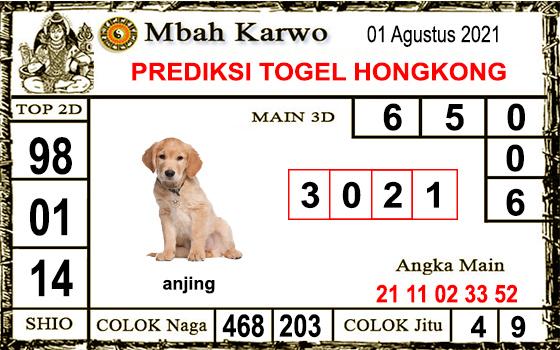Prediksi Mbah Karwo Hk Minggu 01 Agustus 2021
