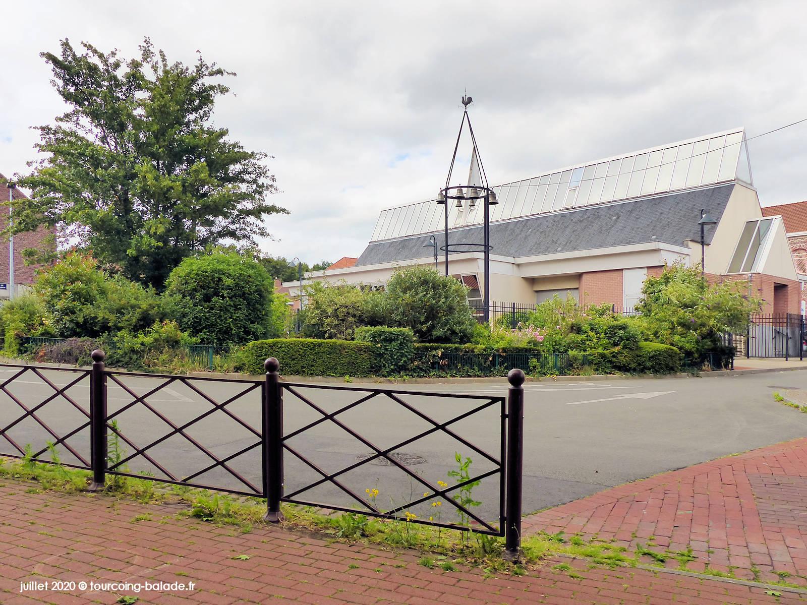 Parvis de l'église St Joseph, Tourcoing 2020