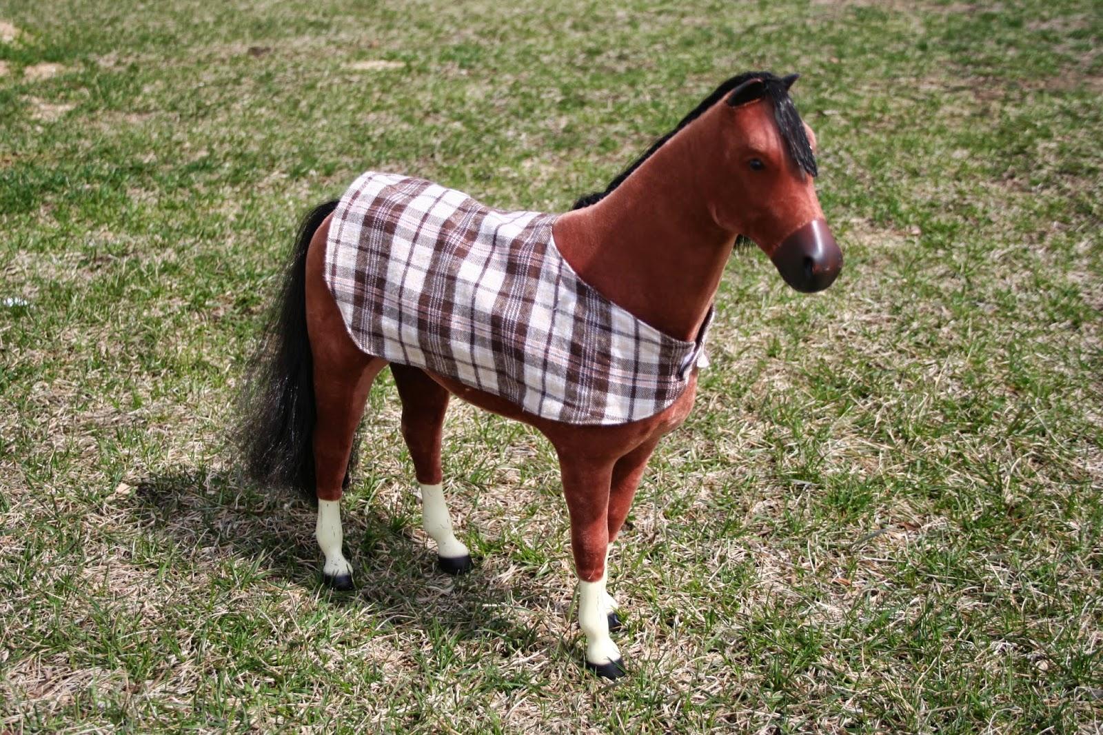 Reversible Horse Blanket For American Doll