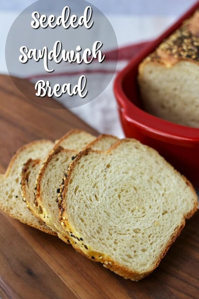Seeded Sandwich Bread with sandwich slices