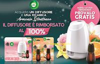 """""""Air Wick ti rimborsa il 100% del diffusore Armonia Istantanea"""" : operazione di cashback"""