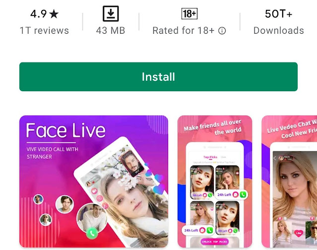 Facelive - Live Chat Video Call with strangers App Review