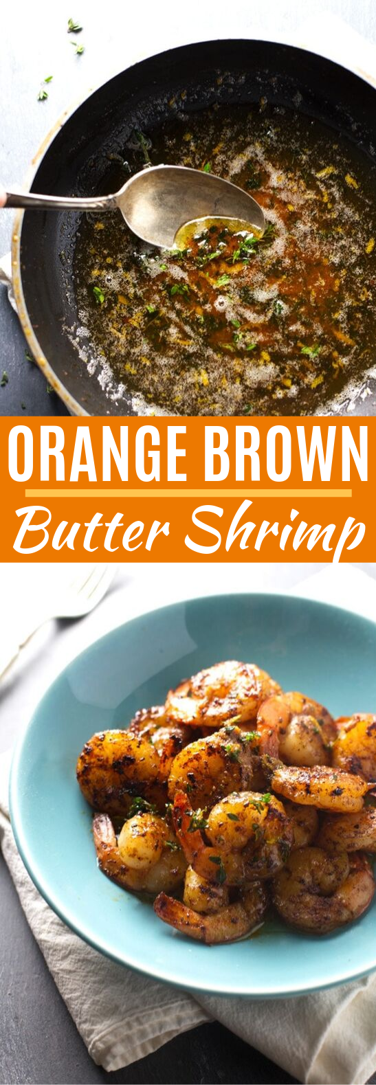 Orange Brown Butter Shrimp #dinner #seafood
