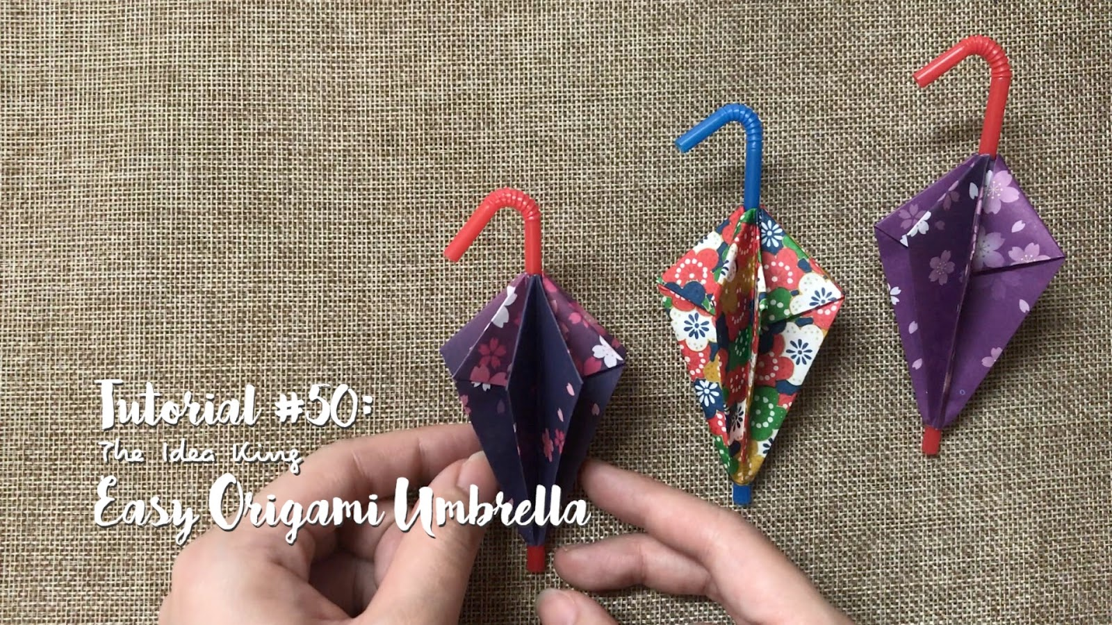 Tutorial 50 Easy Origami Umbrella