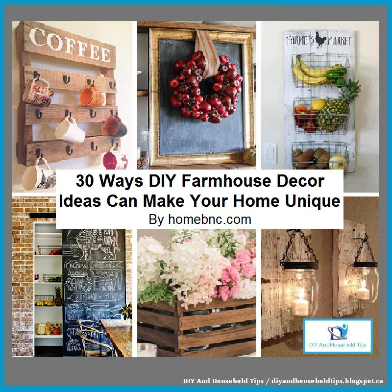 DIY And Household Tips: 30 Ways DIY Farmhouse Decor Ideas