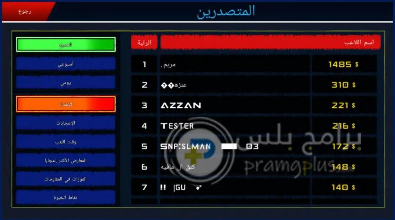 المتصدرين لعبة ملك الطاره